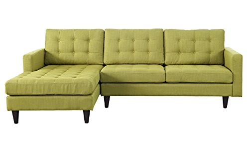 Empress Left-Facing Upholstered Sectional Sofa in Wheatgrass