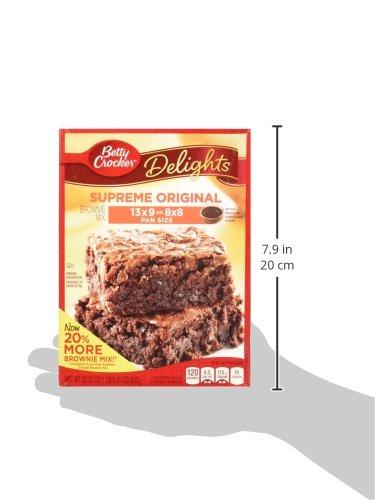 Betty Crocker Delights, Supreme Original Brownie Mix, 22.25 Oz Box (Pack of 8) by Betty Crocker (Image #4)