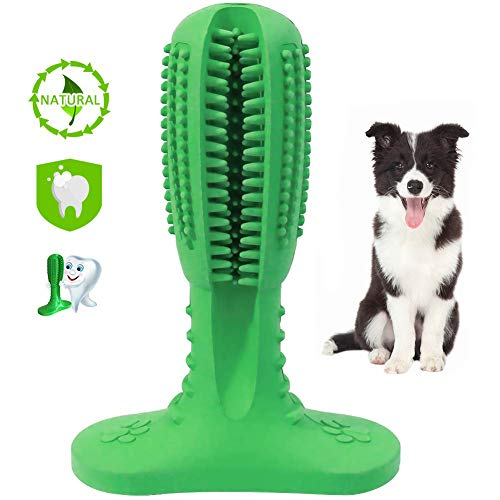 WUXIAN Dog Toothbrush Stick,Dog Teeth Cleaning Massager Nontoxic Natural Rubber Dog Toothbrush chew Toy for Pet Dog
