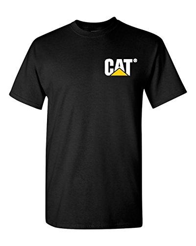 Caterpillar T Shirt Men Cat Graphic Logo Tractor Tee (M, Black) (Logo Cat Black)