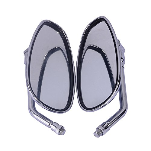 Chrome 10mm Left & Right Hand Side Rear View Mirrors Fit for Honda Motorcycle Shadow Rebel VTX VT CB - Rear Hand View Mirror