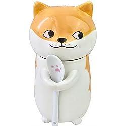 Taza de café linda de la cerámica de la taza del modelo animal 400ml para los amigos o usted mismo, Perro (A)