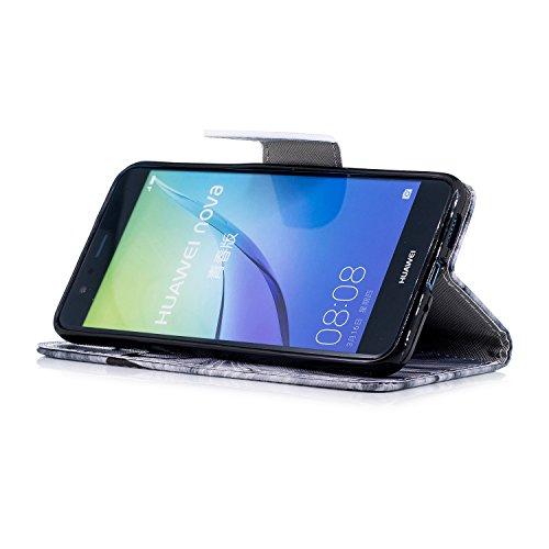 Fonction en Stand P10 Huawei Herbests Lite Housse Pochette pour Lite Magnetique téléphone Huawei pour Huawei Lite Protection Coque Housse etui Etui Cuir P10 en avec P10 de Coque Chats R Portefeuille de Cuir qIpP6tF