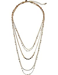 Womens Ellie Triangle Layers Necklace