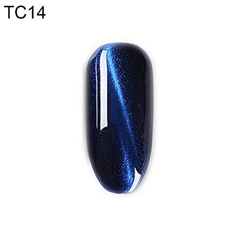 Gel Nail Polish Kekailu, 15ml Cat Eye Polish 3D Magnetic Nail Art UV LED Gel Paint Salon Manicure Tool - TC14 Dark Bronze Couture Art