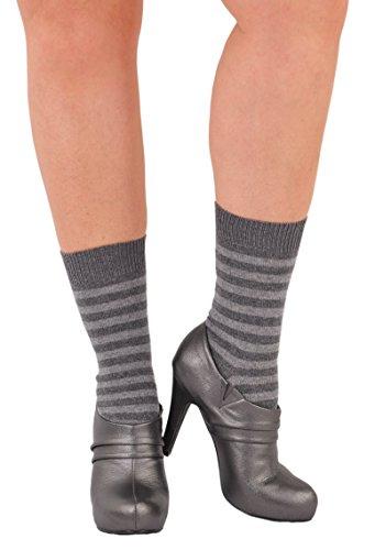 Joelle Kelly Design Pure Cashmere Sizzlin' Hot Stripes Trouser Socks Flannel M/L by Bresciani 1970