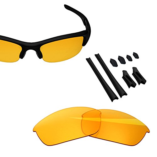 BlazerBuck Anti-salt Replacement Lenses & Sock Kit for Oakley Flak Jacket - High Intensity yellow