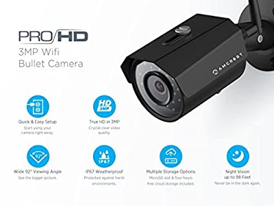 Amcrest 2K 3MP Wireless Outdoor Security Camera ProHD 1080P / 1296P -  Impressive camera sporting a beautiful image with a couple of issues