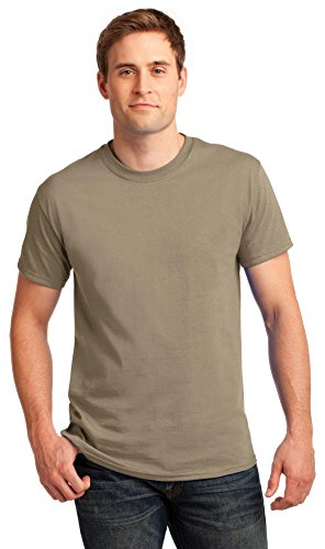 Tan Brown Tee Shirt (Gildan Mens Ultra Cotton 100% Cotton T-Shirt, Large, Tan)