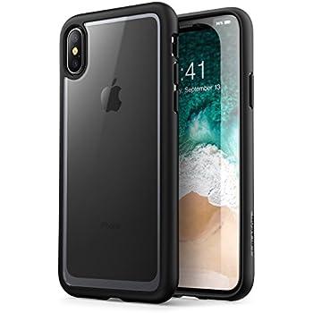 f3ad276c22b i-BLASON [Halo Series - Funda para iPhone X, Resistente a los arañazos y  Transparente, para iPhone X 2017, Clear/Black