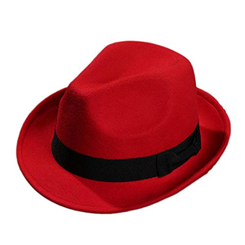 Unisex Casual Solid Wide Brim Hat Felt Hat Only $5.79