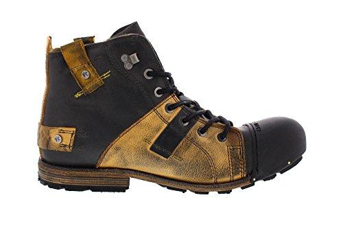 Yellow Cab Industriële Herren Biker Boots Lichtblauw