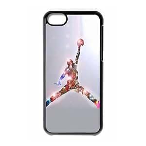 The logo of Jordan for Apple iPhone 5C Black Case Hardcore-2