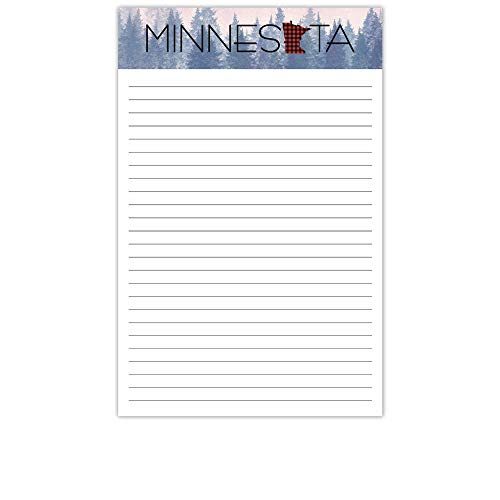 (YaYstationery Notepads - Memo Pads - Scratch Pads - Writing Pads - Illustrated Notepads - 5.5 x 8.5 inches - Thick Premium Paper - Printed Notepad - Minnesota)