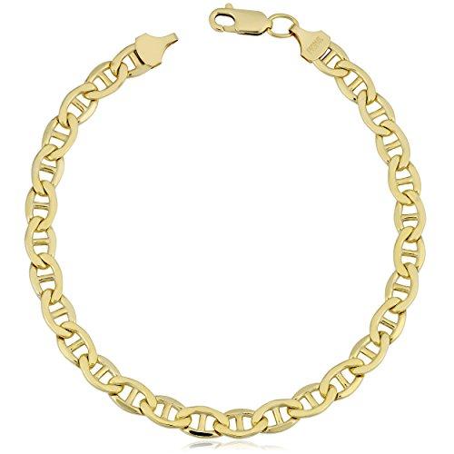 Kooljewelry 14k Yellow Gold Filled Mens Mariner Link Chain Bracelet (5.8 mm, 8.5 inch) ()