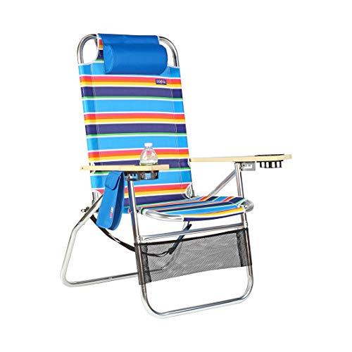 Copa Big Papa 17 inch Hi-Seat Heavy Duty Beach Chair - Tropicana Stripe