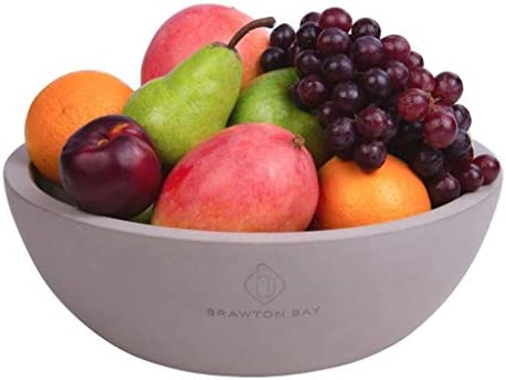 Decorative Fruit Bowl For Kitchen Or Dining Room Concrete Gray Extra Large Food Bowls For Snacks Candy Handmade Kitchen Accessories For Tables And Countertops 12a A A Diameter Amazon Ae