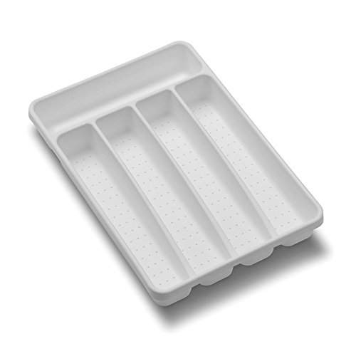 madesmart Value Mini Silverware Tray - White | VALUE COLLECTION | 5-Compartments | Durable | (Silverware Drawer)