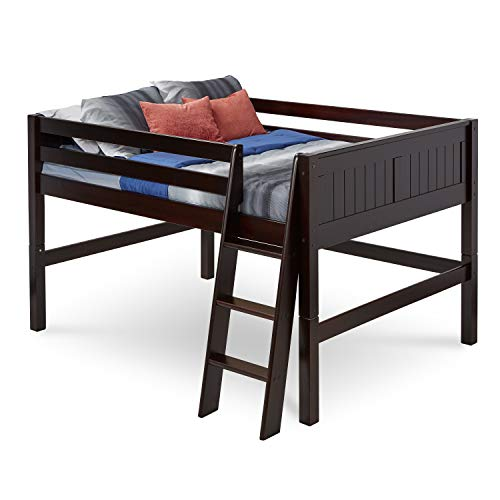 Amazon Com Camaflexi Panel Style Solid Wood Low Loft Bed