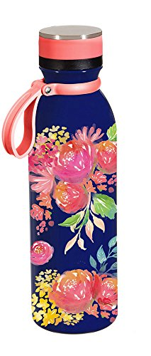 Cypress Home Bright Floral Stainless Steel Water Bottle, 20 ounces
