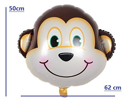 Safari Jungle Zoo Huge Animal head Balloon Jumbo Balloons Zebra, Tiger, Lions, Giraffe & Monkey with 20pcs 11'' latex Safari Print Party Supply foci cozi by foci cozi (Image #3)