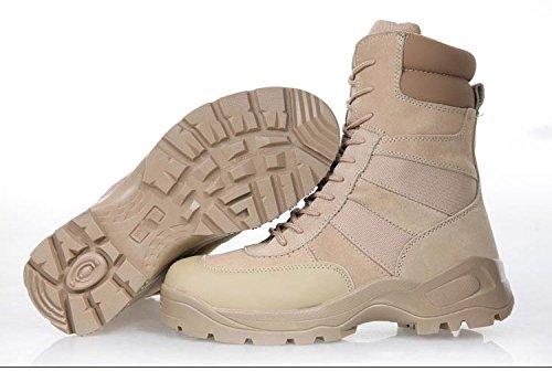 WZG Caer botas altas botas de desierto botas de combate de las fuerzas especiales de los hombres de las botas de vuelo cargadores tácticos de zapatos transpirables sand color