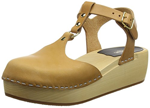 Nature Donna Marrone Hasbeens Nature Swedish Zoccoli Ring Sandal wq1xzA8