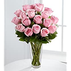 4304AD Valentines Day Flowers - Pink Rose Bouquet by FTD - 18 Flowers for Valentine's Day
