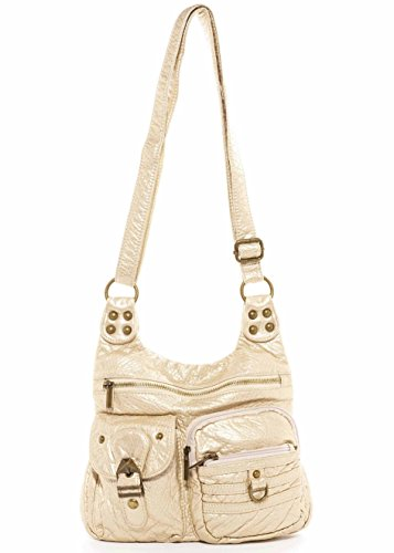 The Vegan Hobo Creations Ampere Soft by Leather Champagne Tote Handbag Aria Crossbody rqBxra