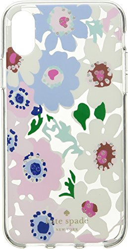 Kate Spade New York Women's Jeweled Daisy Garden Clear Phone Case for iPhone X Clear Multi One Size by Kate Spade New York