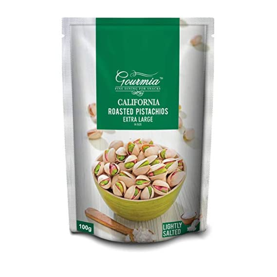 Gourmia California Roasted Pistachios Extra Large Lightly Salted 100g