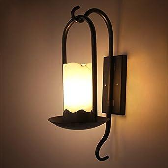 LIVY Amerikanisches Land Wand Retro Lampe Einfach Kreative Pastorale Nord Gang Eisen Marmor Wohnzimmer Beleuchtung Energy Class A