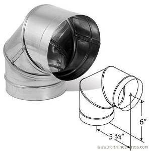 6 inch vent elbow - 5