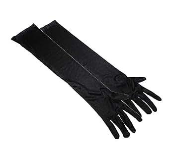 niceEshop(TM) Dress up Cosplay Photo Props Long Satin Opera Gloves-Black
