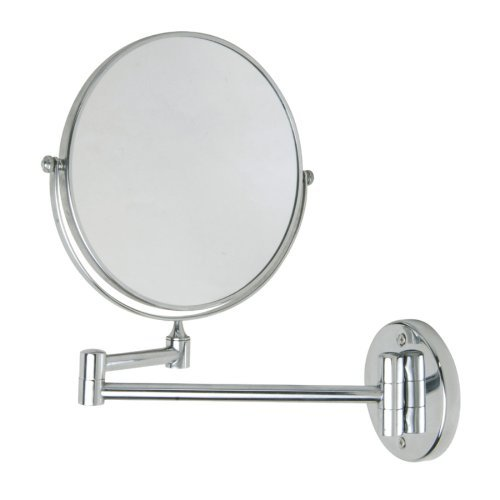 Nie Wieder Bohren Mr487 30 x 4 x 30cm Miroo Make-Up Mirror Never Drill Again Fastening Technology - Chrome Plated by nie wieder bohren by nie wieder bohren.