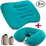 OLUNNA Camping Pillow Inflatable Travel with Neck Pillow U-Shaped, Ultralight Hiking Pillow Compressible, Compact, Comfortable, Ergonomic Pillow Camping, Backpacking, Airplanes Road Trips