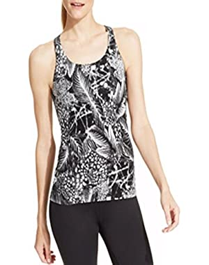 Calvin Klein Performance Printed Basketweave Tank Black Small