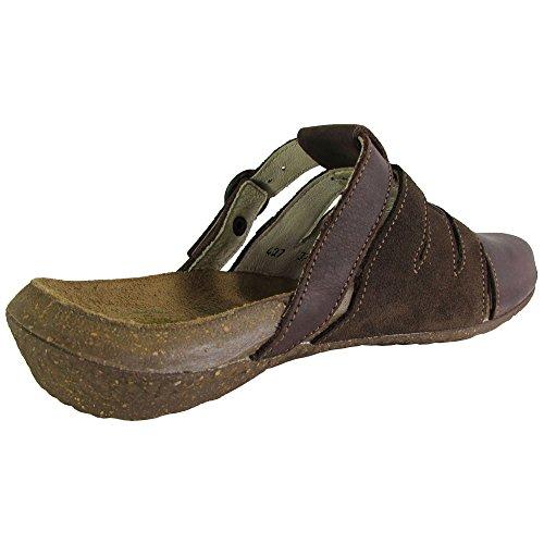 El Naturalista Donna N427 Wakataua Slip On Mule Shoes Brown