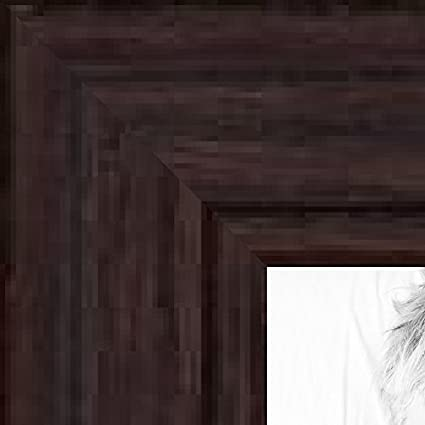 amazon com arttoframes 28x10 28 x 10 picture frame walnut stain
