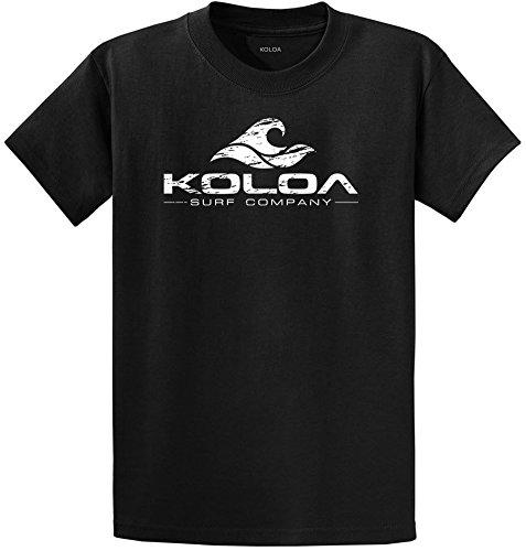 Koloa Surf Co. Vintage Wave Logo T-Shirts 3XLargeTall Black/w3XLT