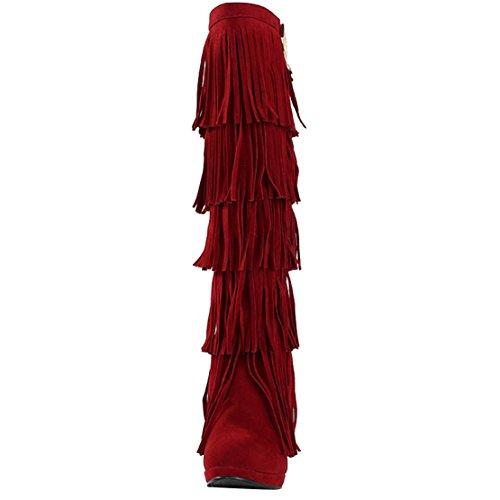 AIYOUMEI Women's Women's Red AIYOUMEI Boot Classic HwnEdqx0