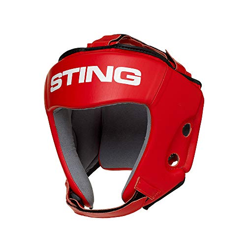 STING AIBA Competition MMA/Boxing Headguard – Red, L