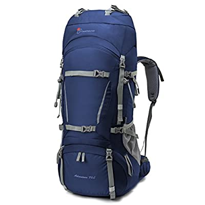 Mountaintop [2016 NEW] 70L+10L Internal Frame Backpack Water-resistant Hiking Backpack Backpacking Trekking Bag with Rain Cover for Climbing,camping,hiking,Travel and Mountaineering-5805III
