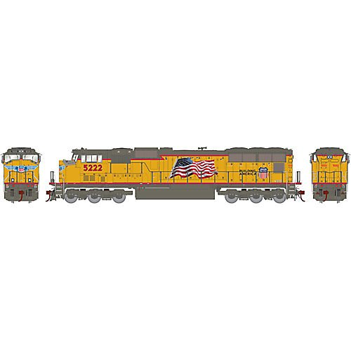 HO SD70M w DCC & Sound UP Flag #5222 -  ATHEARN