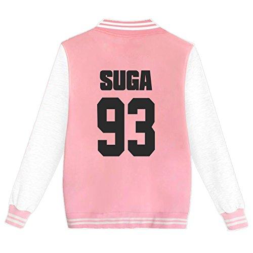 KPOP BTS Varsity Baseball Jacket Monster JIN SUGA JIMIN V Sweater