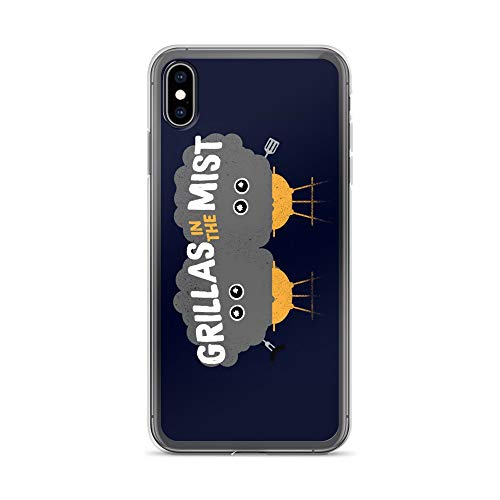 iPhone Xs Max Case Anti-Scratch Animated Cartoon Transparent Cases Cover Grillas Cartoons Caricature Crystal ()
