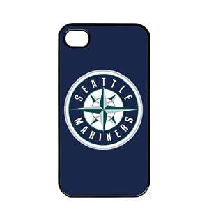iphone covers MLB Major League Baseball Seattle Mariners Apple Iphone 6 plus TPU Soft Black or White case (Black)