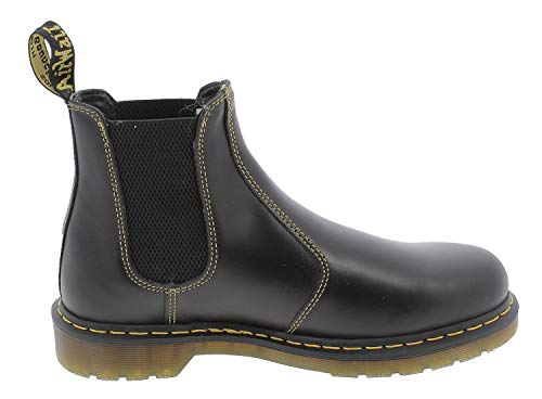 Dr. Martens, 2976 Leather Chelsea Boot for Men and Women, Cherry Red Smooth, 14 US Women/13 US Men