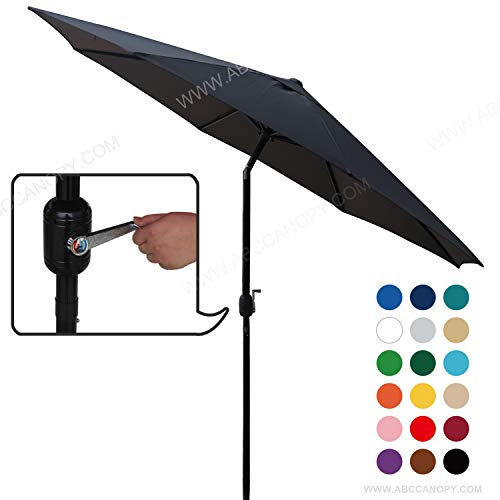ABCCANOPY Commercial Event Market Aluminum Umbrella 9 FT Patio Umbrella with Push Button Tilt and Crank,Black-2