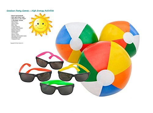 pool-party-favors-supplies-for-12-12-multi-colored-inflatable-beach-balls-10-inches-tall-12-neon-toy